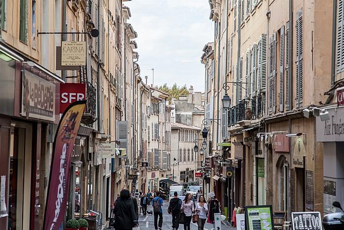 Aix-en-Provence Altstadt: Rue des Cordeliers