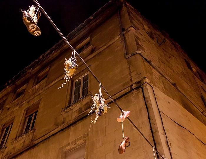Avignon Intra-muros: Hängende Schuhe