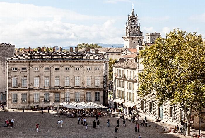 Avignon Intra-muros: Place du Palais, Hôtel Calvet de Palun (Banque de France), Rathaus (Hôtel de ville)