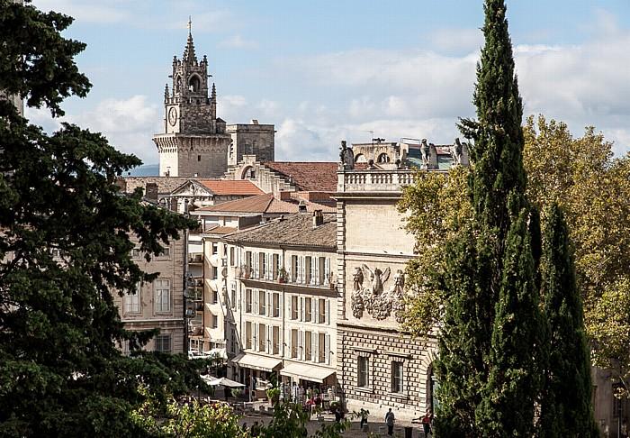 Avignon Intra-muros: Place du Palais, Hôtel des Monnaies, Rathaus (Hôtel de ville)