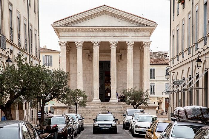 Nîmes Écusson: Rue Auguste, Maison Carrée (Rechteckiges Haus)