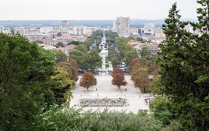 Nîmes Jardins de la Fontaine, Avenue Jean Jaurès