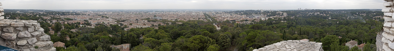 Nîmes Blick vom Tour Magne: Stadtzentrum
