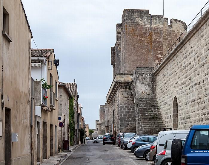 Aigues-Mortes Intra muros: Porte des Moulins, Stadtmauer