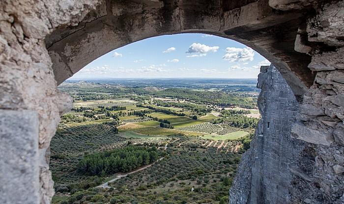 Les Baux-de-Provence Blick von der Burgruine Château des Baux