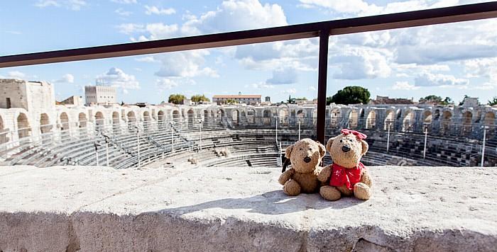 Amphitheater (Arènes d'Arles): Teddy und Teddine