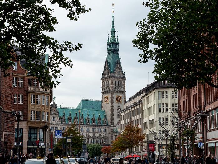 Mönckebergstraße, Hamburger Rathaus Hamburg