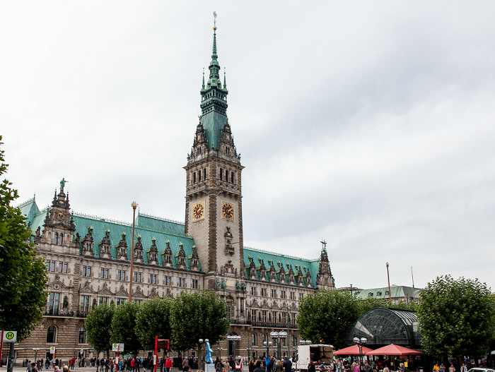 Rathaus und Rathausmarkt Hamburg