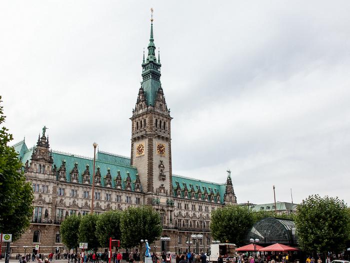 Rathausmarkt, Hamburger Rathaus Hamburg 2013
