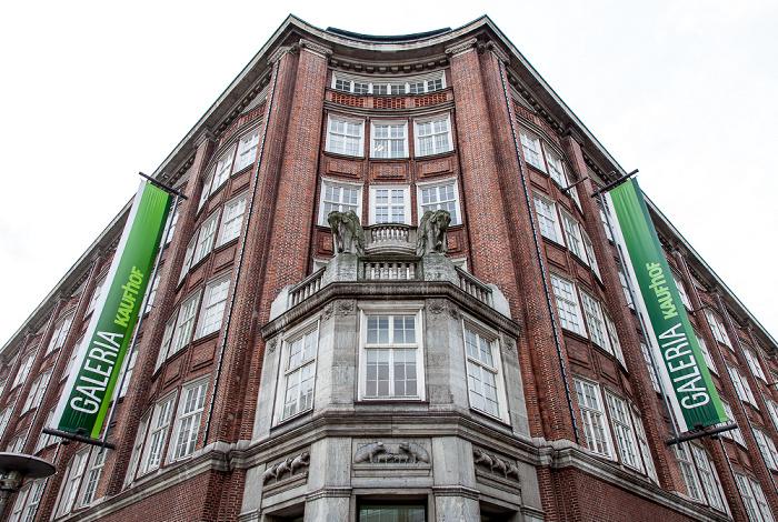 Hamburg Lange Mühren / Mönckebergstraße: Klöpperhaus (Galeria Kaufhof)