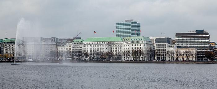 Hamburg Binnenalster, Neuer Jungfernstieg Emporio-Hochhaus Fairmont Hotel Vier Jahreszeiten