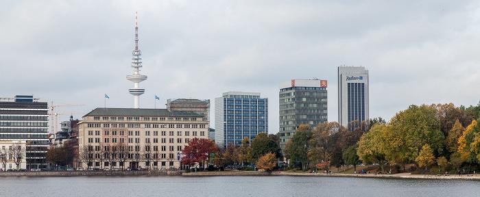 Hamburg Binnenalster Finnlandhaus Heinrich-Hertz-Turm Radisson Blu Hotel