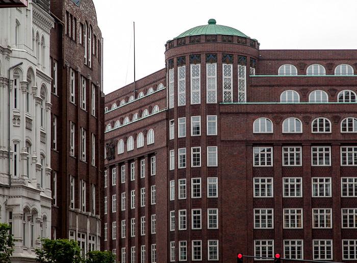 Dammtorstraße / Gänsemarkt: Dienstgebäude der Finanzbehörde Hamburg