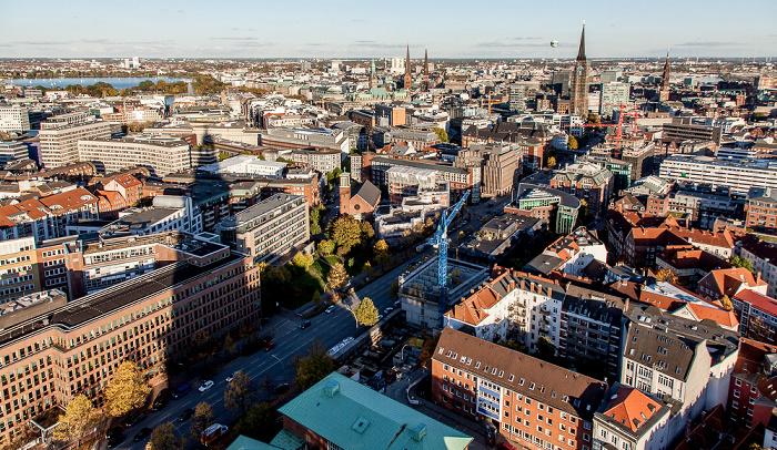 Blick vom Turm der St.-Michaelis-Kirche (Michel) Hamburg 2013