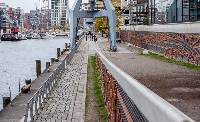 Hamburg HafenCity: Quartier Am Sandtorkai/Dalmannkai - Sandtorhafen und Kaiserkai Hamburger Hafen
