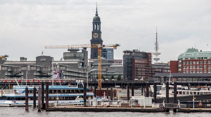 Hamburg St.-Michaelis-Kirche Elbe Heinrich-Hertz-Turm U-Bahnlinie 3 Verlagsgebäude Gruner + Jahr