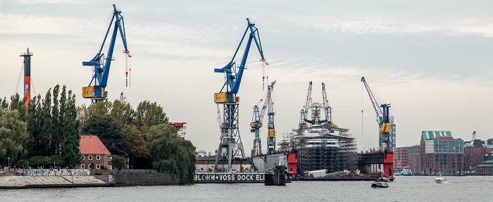 Hamburger Hafen: Werft Blohm + Voss Hamburg