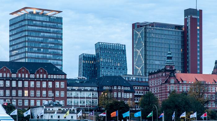 DWI-Turm, Tanzende Türme und Atlantic-Haus Hamburg