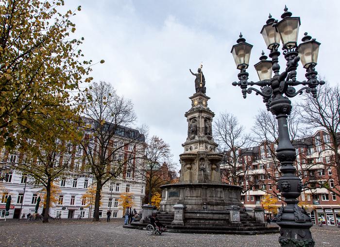 Hamburg Hansaplatz: Hansabrunnen