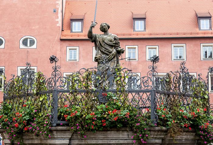 Altstadt: Haidplatz - Justitiabrunnen Regensburg