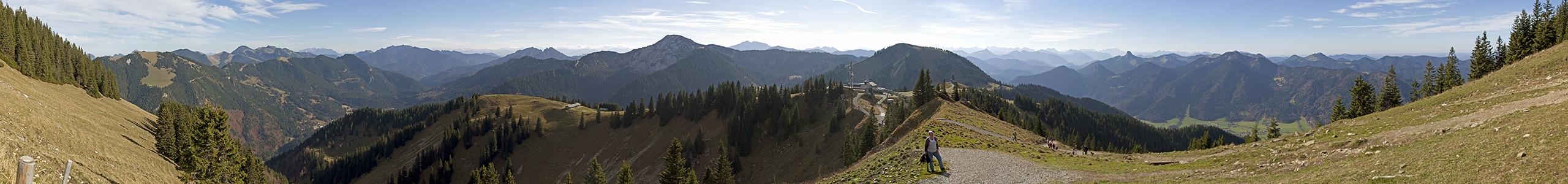 Wallberg Wilder Kaiser, Hohe Tauern, Zillertaler Alpen, Karwendel, Wettersteingebirge (v.l.)