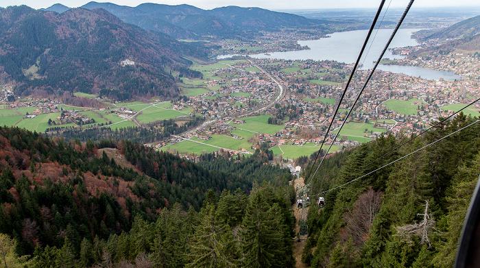 Blick aus der Wallbergbahn: Tegernsee