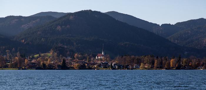 Tegernsee (See) Bad Wiessee mit Kirche Maria Himmelfahrt