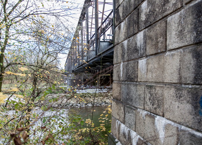 München Braunauer Eisenbahnbrücke über die Isar