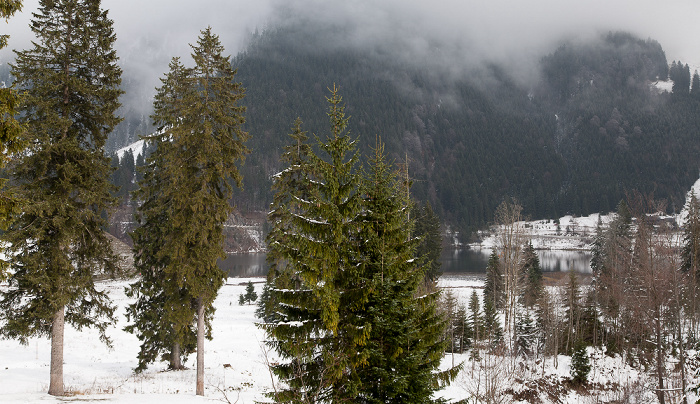 Spitzingsee Blick aus dem BLSV-Haus Bergsee