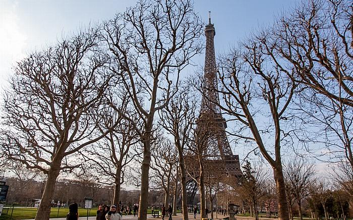 Marsfeld (Champ de Mars), Eiffelturm (Tour Eiffel) Paris