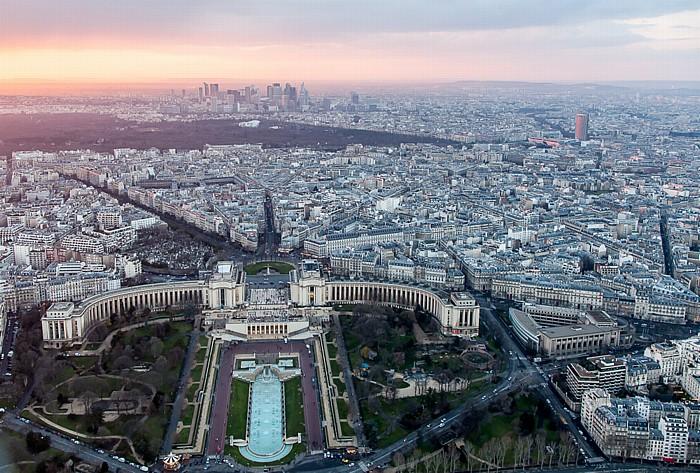 Blick vom Eiffelturm (Tour Eiffel) Paris 2014