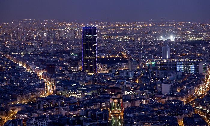 Blick vom Eiffelturm (Tour Eiffel): Tour Montparnasse Paris