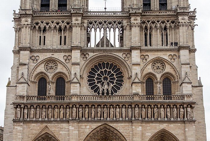Île de la Cité: Notre-Dame de Paris -  Westfassade Paris 2014