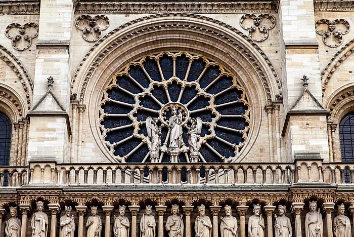 Île de la Cité: Notre-Dame de Paris -  Westfassade