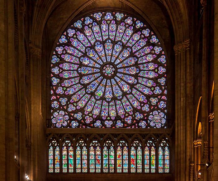 Notre-Dame de Paris: Rosette in nördlichem Querschiff