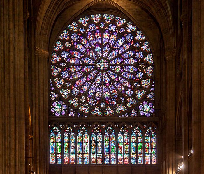 Notre-Dame de Paris: Rosette in südlichem Querschiff