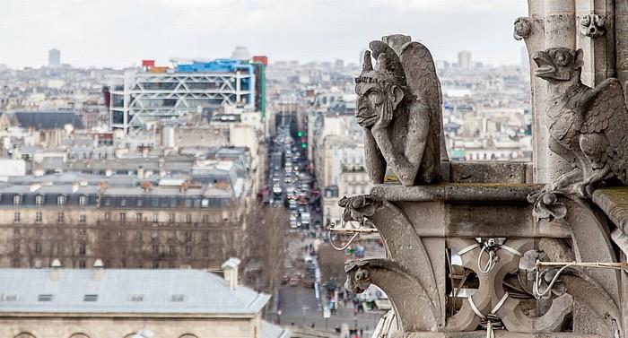 Notre-Dame de Paris: Nordturm Centre Pompidou Rue du Renard