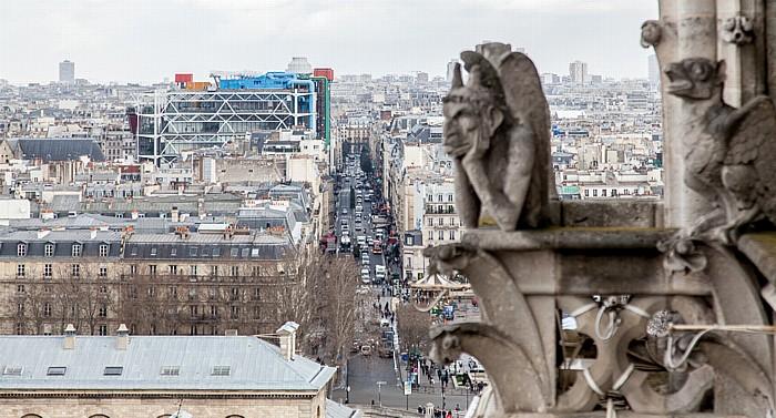 Notre-Dame de Paris: Rue du Renard und Centre Pompidou (Centre national d'art et de culture Georges-Pompidou)