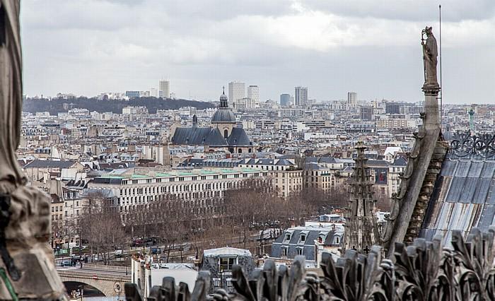 Blick von der Notre-Dame de Paris Cimetière du Père-Lachaise Temple du Marais