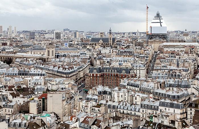 Blick von der Notre-Dame de Paris Ancienne École Polytechnique Église du Val-de-Grâce Église Saint-Étienne-du-Mont Panthéon Tour Clovis