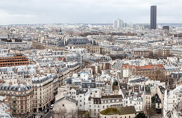 Blick von der Notre-Dame de Paris Chapelle Sainte-Ursule de la Sorbonne Observatoire de la Sorbonne Sorbonne Tour Montparnasse