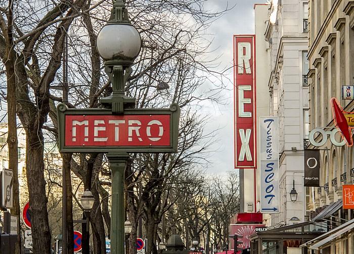 Boulevard Poissonnière: Métrostation Bonne Nouvelle und Le Grand Rex Paris