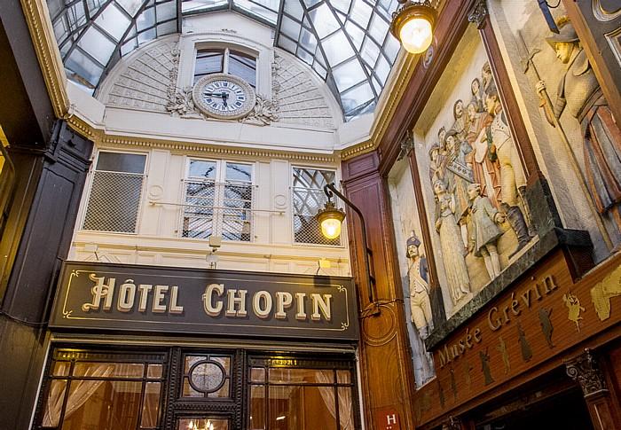 Passage Jouffroy: Hotel Chopin und Musée Grévin Paris