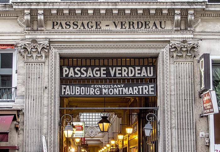 Passage Verdeau: Eingang an der Rue du Faubourg-Montmartre Paris