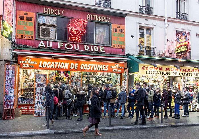 Rue du Faubourg-Montmartre: Au Fou Rire Paris