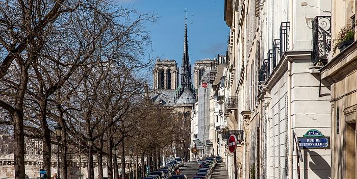Quai de Béthune, Notre-Dame de Paris