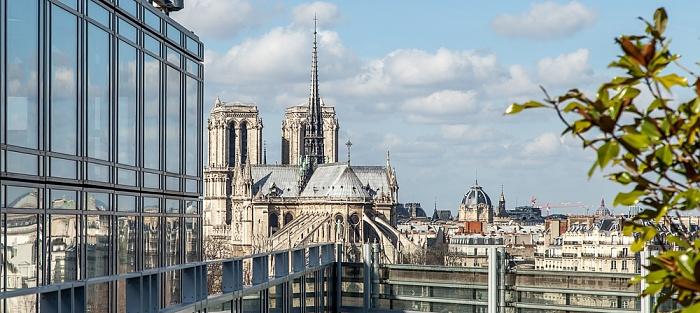 Blick vom Institut du monde arabe: Notre-Dame de Paris
