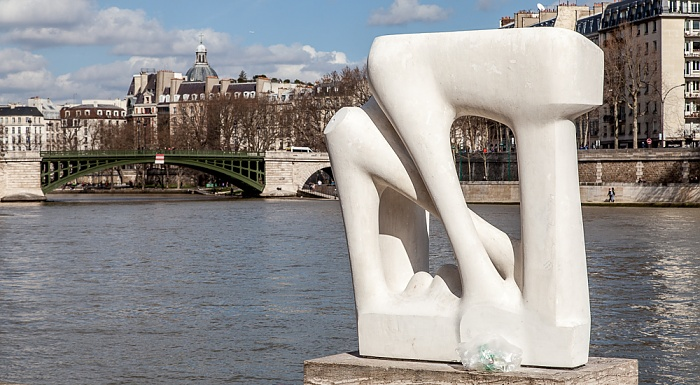 Paris Musée de la sculpture en plein air Pont de Sully Seine