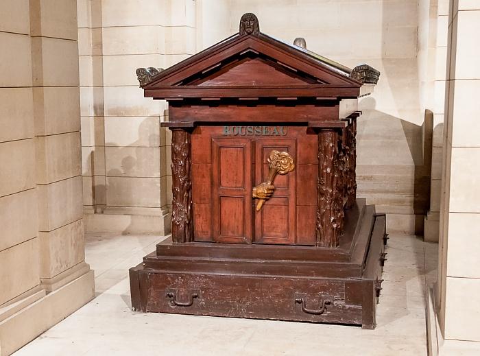 Paris Panthéon: Grab von Jean-Jacques Rousseau