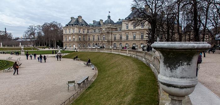 Jardin du Luxembourg und Palais du Luxembourg Paris 2014